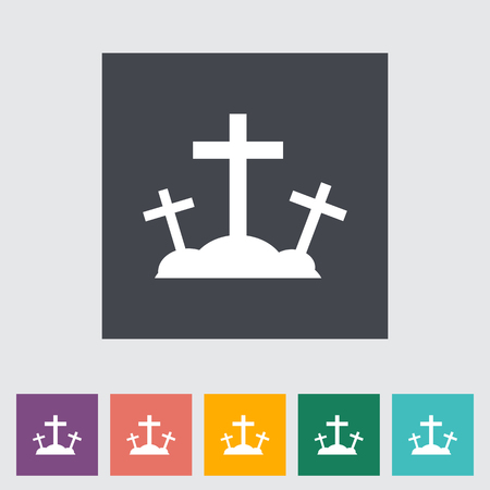Calvary single flat icon. Vector illustration.
