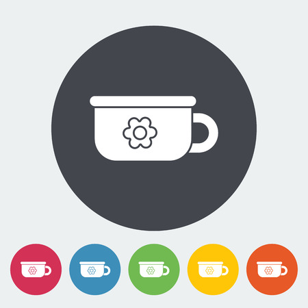 Potty icon. Flat vector related icon for web and mobile applications. It can be used as - logo, pictogram, icon, infographic element. Vector Illustration. Vectores