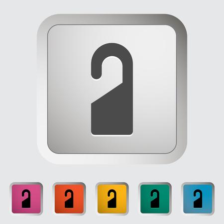 Door tag. Single icon. Vector illustration.