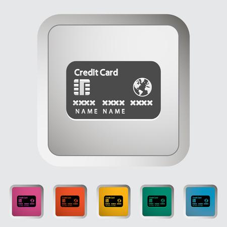 Credit card single icon. Banco de Imagens - 122825045