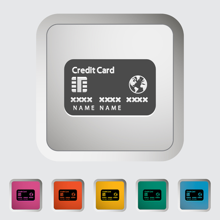 Credit card single icon. Illustration