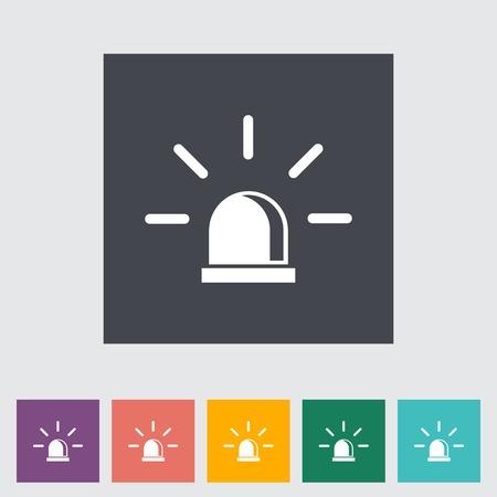 Police single flat icon. Vector illustration.