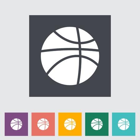 Basketball flat icon. Vector illustration EPS.