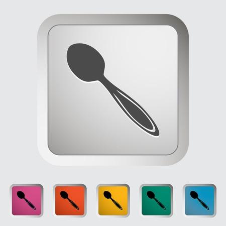 Spoon. Single icon. Vector illustration..