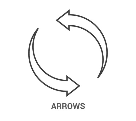 Arrows Icon. Thin Line Illustration - Adjust stroke weight - Expand to any Size - Easy Change Colour - Pixel Perfect