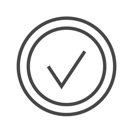 Check Mark Thin Line Icon. Flat icon isolated on the white background. Editablefile. illustration.