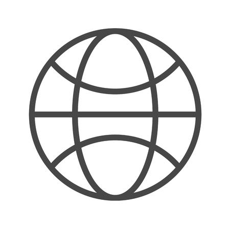 Globe Thin Line Icon. Flat icon isolated on the white background. Editablefile. illustration.