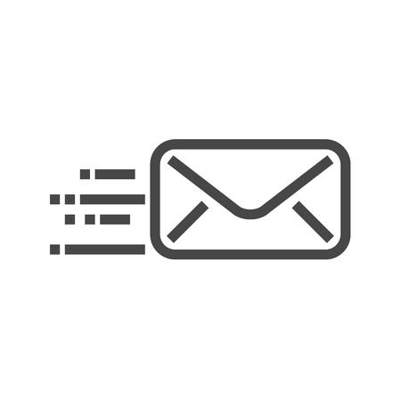 Mail Thin Line Icon. Flat icon isolated on the white background. Editablefile. illustration. Stock Photo