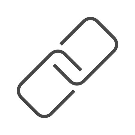 Link Thin Line Icon. Flat icon isolated on the white background. Editablefile. illustration. Banco de Imagens