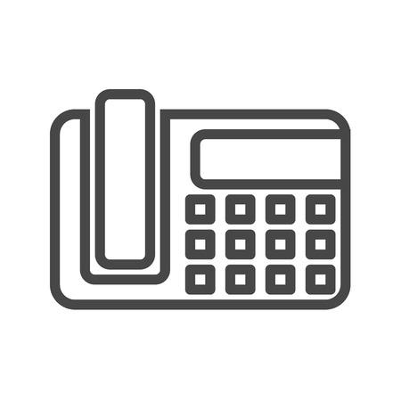 Office Phone Thin Line Icon. Flat icon isolated on the white background. Editablefile. illustration.