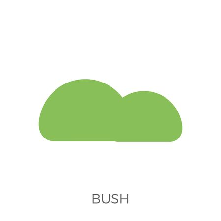 Bush Icon . Isolated on White Background. Trendy Flat Style. Stock fotó