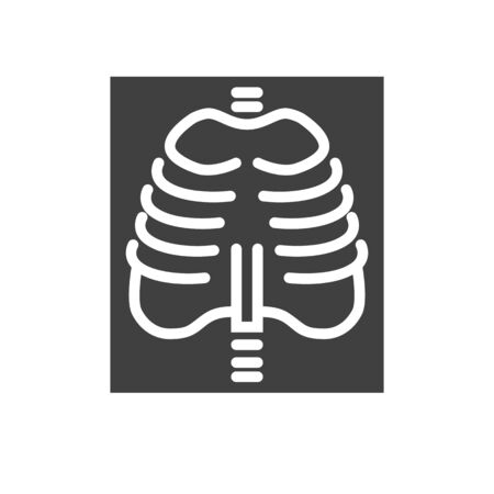 X-ray Glyph Icon. Isolated on the White Background.