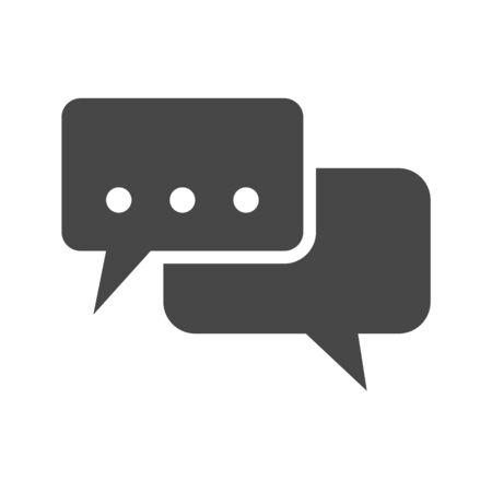Speech Bubble Flat Icon. Flat icon isolated on the white background. Editablefile. illustration.
