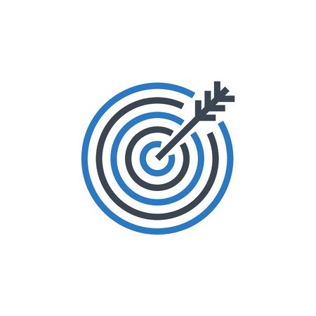 Target related vector glyph icon.