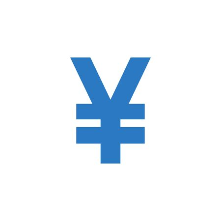 Yen related vector glyph icon. 向量圖像