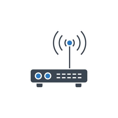 Router related vector glyph icon