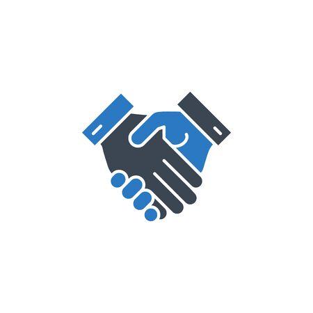 Handshake related vector glyph icon