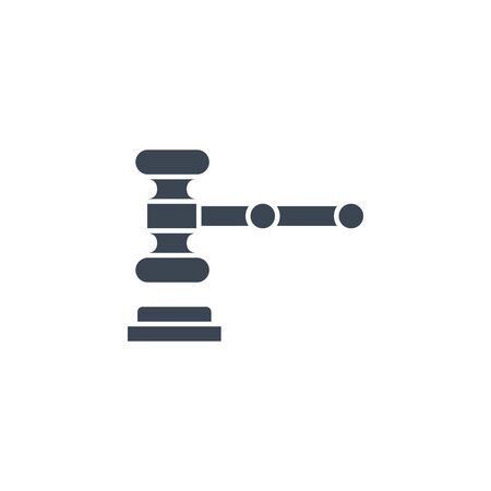 Auction Gavel related vector glyph icon.