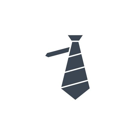 Necktie related vector glyph icon. 矢量图像