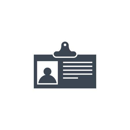 Identification Card Flat related vector glyph icon. Ilustração