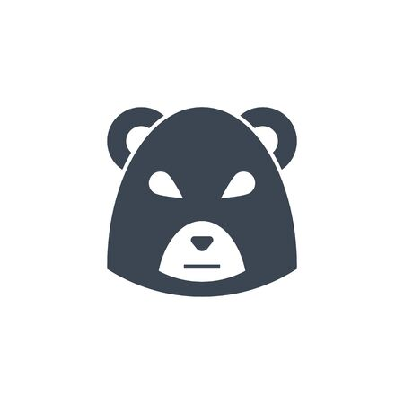 Bear Market related vector glyph icon.  イラスト・ベクター素材