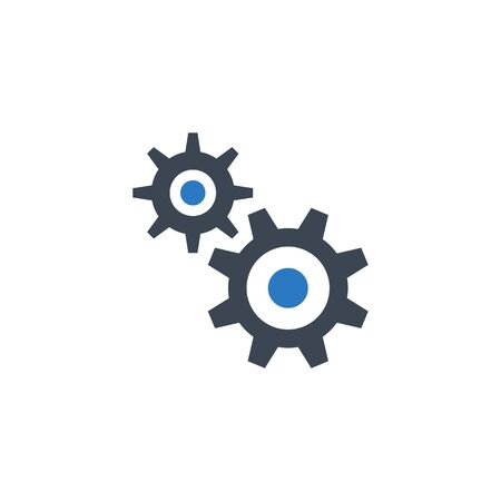 Gear related vector glyph icon.