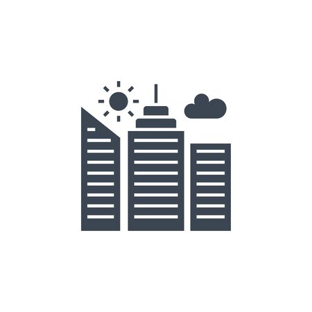 City Building related vector glyph icon.