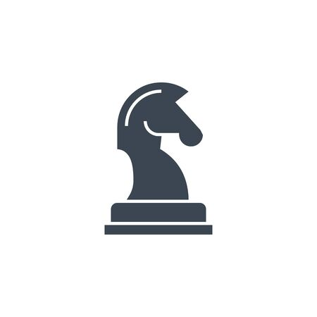 Horse Chess related vector glyph icon.  イラスト・ベクター素材