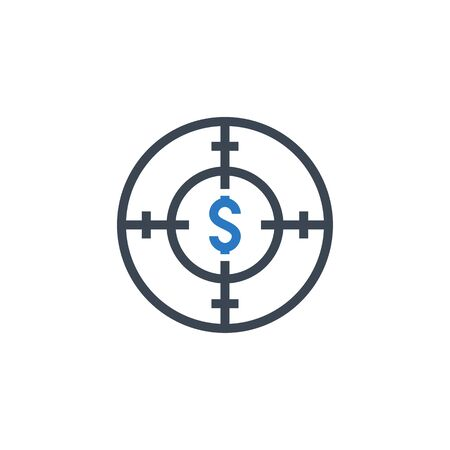 Funds Hunting related vector glyph icon.