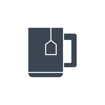 Cup of Tea related vector glyph icon.
