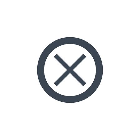 Cross Mark related vector glyph icon.