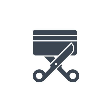 Expired Credit Card related vector glyph icon.