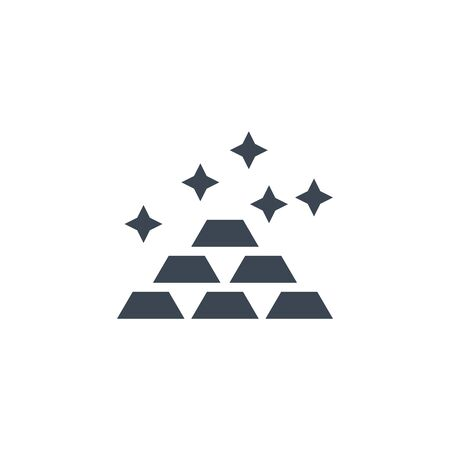 Gold related vector glyph icon.