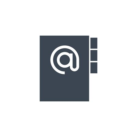 Address book related vector glyph icon.