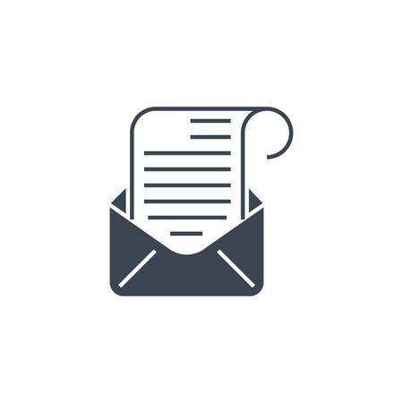 Mail related vector glyph icon.