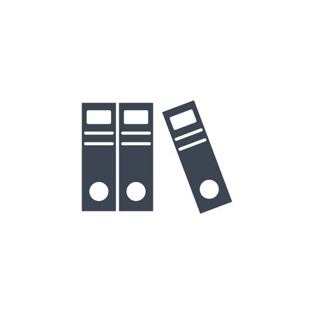 Office Folders related vector glyph icon.
