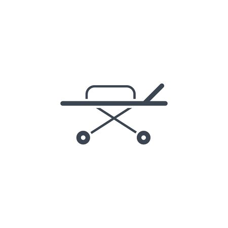 Hospital Bed related vector glyph icon.