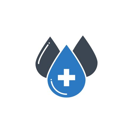Blood Donation related vector glyph icon. 向量圖像