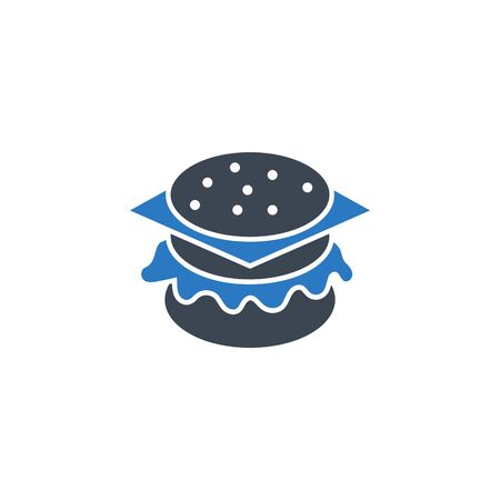 Burger related vector glyph icon. Isolated on white background. Vector illustration.