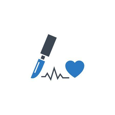 Cardio Surgery related vector glyph icon. 向量圖像