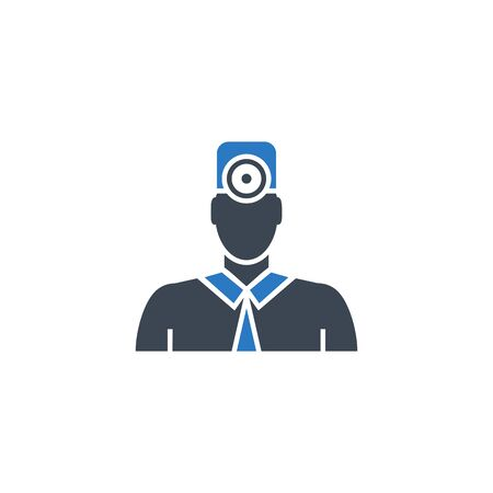 Doctor related vector glyph icon. Illustration