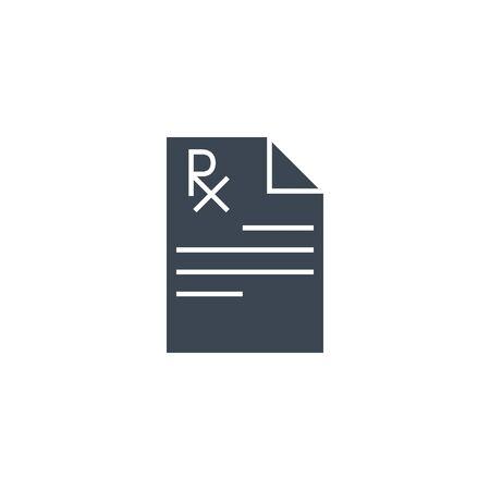 Prescription related vector glyph icon. Ilustração