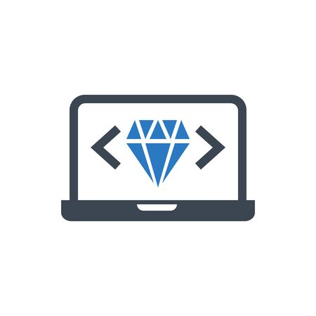 Clean Code Vector Glyph Icon