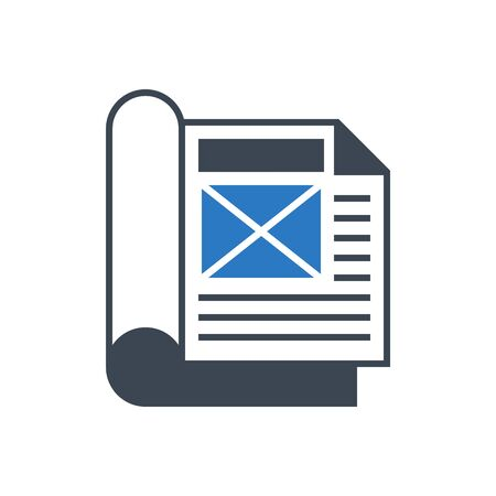Article Flat Vector Glyph Icon