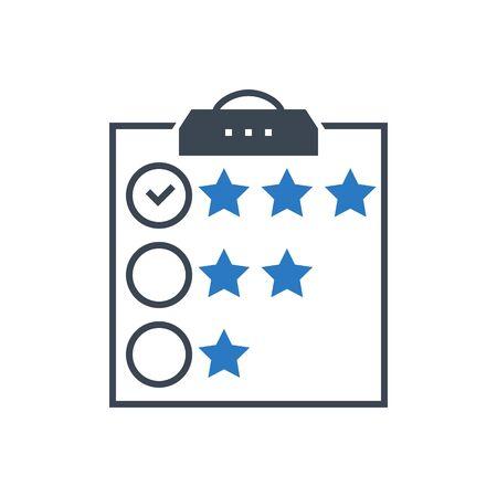 Customer Reviews Vector Glyph Icon  イラスト・ベクター素材