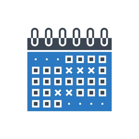 Events Calendar Vector Glyph Icon