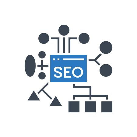 SEO Planing Vector Glyph Icon