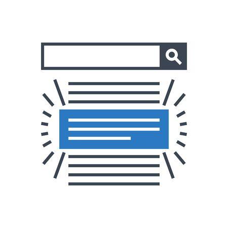 Search Result Vector Glyph Icon