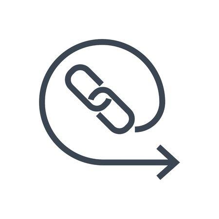 Backlinks Line Vector Glyph Icon