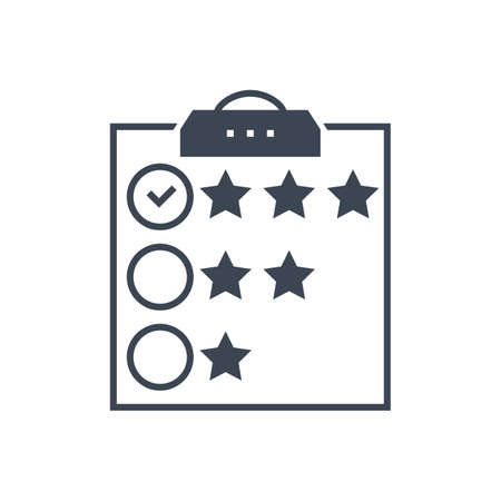 Customer Reviews Vector Glyph Icon Illusztráció